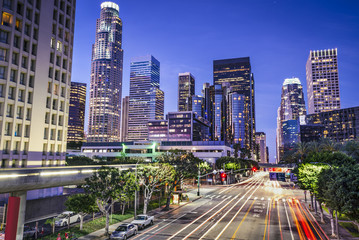 Spoed Fotobehang Los Angeles Downtown Los Angeles, California Cityscape