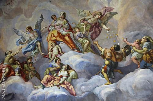 Wall mural Kuppel-Fresko Karlskirche Wien