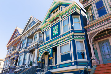 San Francisco Victorian houses in Haight Ashbury California