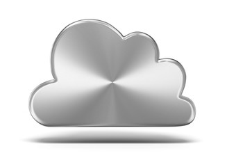 Metal cloud, isolated on white