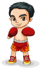 An Asian boxer