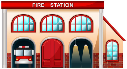 A fire station building
