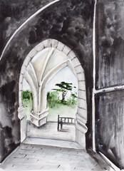 Paris arch and patio