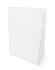 Blank white book isolated on white with clipping path