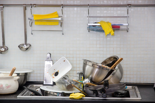Dirty utensil on the kitchen