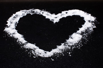 Valentines day heart from salt