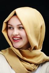Young beautiful Muslim girl portrait