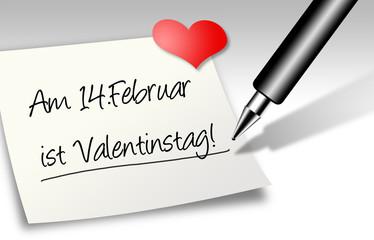 Notiz - Valentinstag
