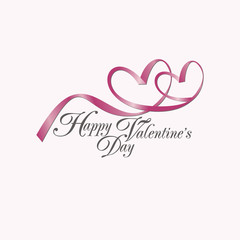 vector card with Happy Valentine's Day