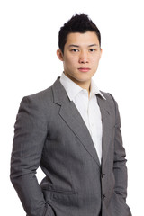 young businessman stand