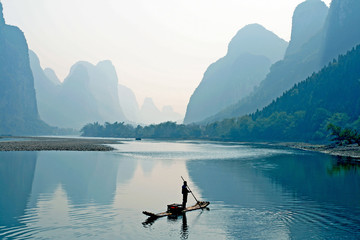 Spoed Fotobehang China the Guilin Scenery