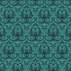 vector seamless classik floral pattern