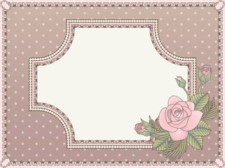 Vintage love invitation card, vector illustration