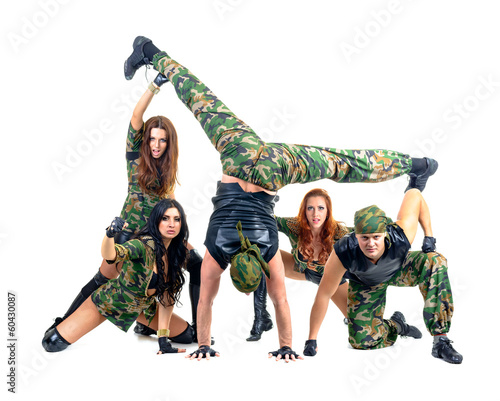 97f0ae3690d3 military dancer team dressed in camouflage costumes