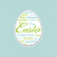 easter egg typographical background