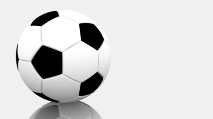 Soccer football ball. Isolated on white.