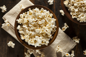 Healthy Buttered Popcorn with Salt
