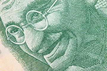 Porträt auf der indischen 5 Rupien Banknote