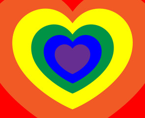 Abstract-Colorful Hearts 2