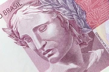 Porträt auf der brasilianischen 5 Reais Banknote