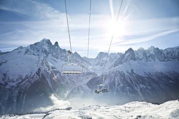 Panorama paysage sports d'hiver