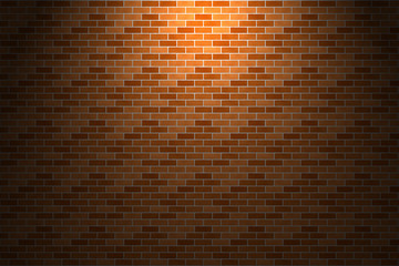 Light and shade on orange brick wall
