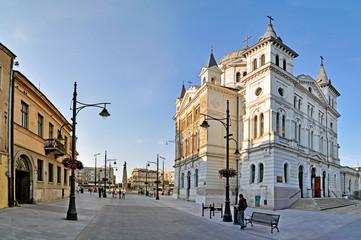 Obraz Ulica Piotrkowska - Panorama - fototapety do salonu