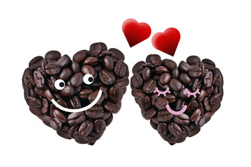 Cute couple in love, isolated with clipping paths on white backg