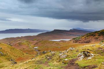 Autumn landscape in Highlands, Scotland, United Kingdom