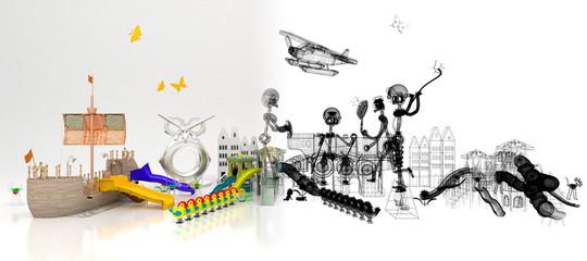 Parco Giochi, bambini, Divertimenti, Luna Park, Scivoli