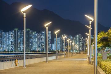 Seaside Promenade in Hong Kong Fotomurales