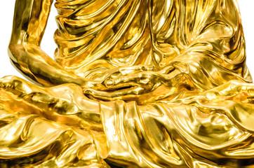 Golden Buddha hand closeup