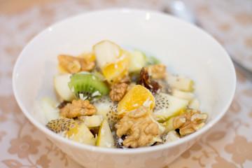 Fruit Salad in white ball
