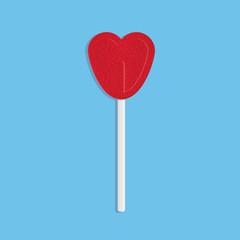 Red heart lollipop