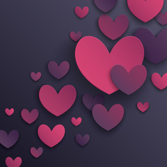 Wall Mural - Valentine`s Day abstract background. Vector illustration.