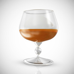 Glass of Cognac on a gradient background