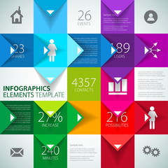 Vector abstract squares background illustration - infographic te