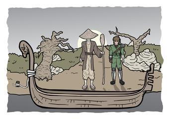 Boat asian