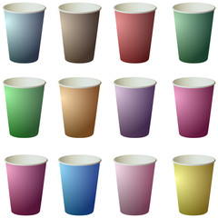Colorful Paper Coffee cup