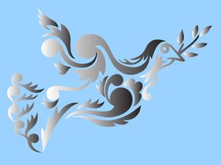 Dove bird design illustration