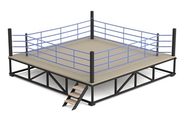 realistic 3d render of boxing ring