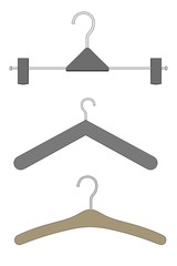 cartoon image of clothes hangers