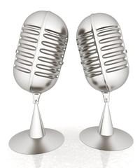 metal microphones