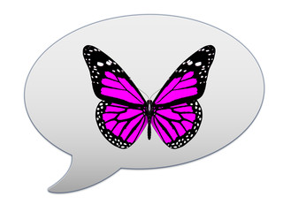 messenger window icon and red butterfly