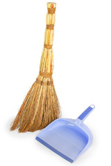 broom and lilac dustpan