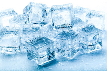 fresh ice cubes