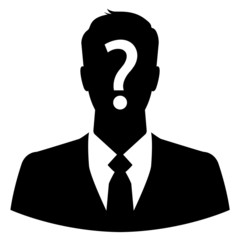 Anonymous business man icon