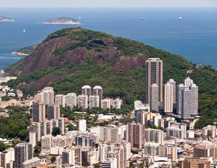 Aerial View of Residential Buildings in Rio de Janeiro, Brazil