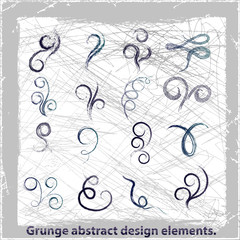 Grunge abstract design elements. Vector illustration.