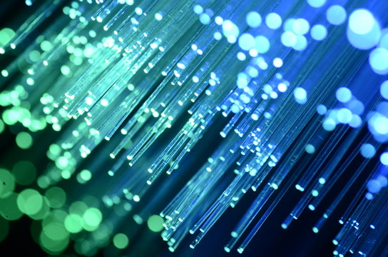 Optical fiber close-up